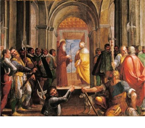 Fig. 2. Belisario Corenzio e aiuti, San Francesco di Paola e Ferdinando il Cattolico  , ca. 1620, Napoli, Palazzo Reale