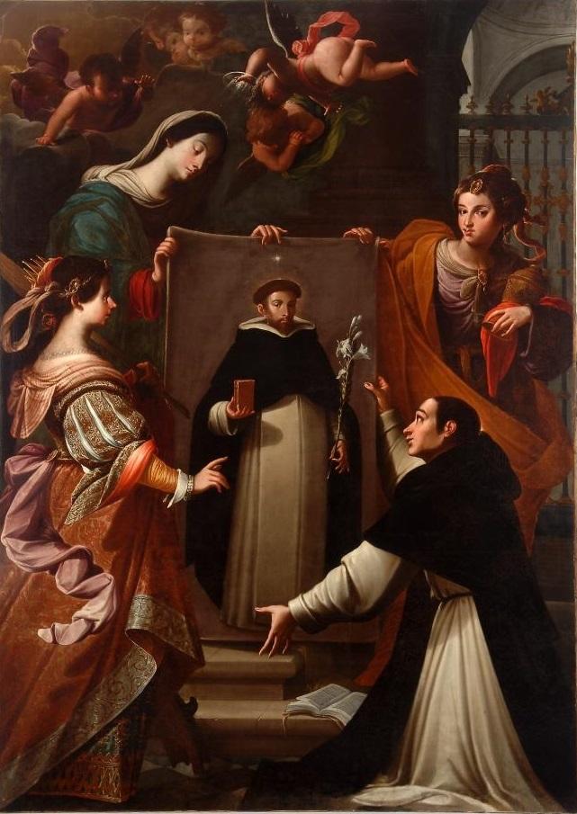 Andrés Amaya, Apparizione della Vergine ad un domenicano di Soriano, fine XVII sec., Museo Nacional de Escultura, Valladolid
